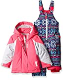 Carter's Baby Girls' Infant Color Block Active 2 Pc Snowsuit With Print Pant, Pink, 12M