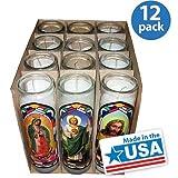 Saints Religious Candle, White