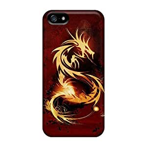 Tanya Diy case cover For Iphone 5/5s With Red Dragon sco473HL9Ba