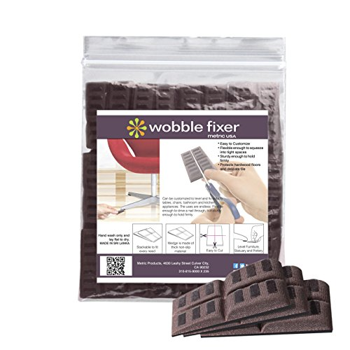 Shims by Wobble Fixer Metric USA Soft 50 Pieces Bulk Packaged are Perfect for Restaurant Supply Store and Plumbing Supply Furniture Levelers are Stackable and Customizable (Set of 50)