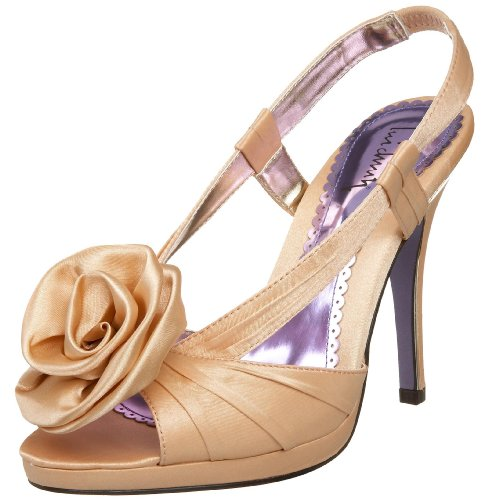 Luichiny Women's Getting Hitched, Champagne Satin, 8.5 M -