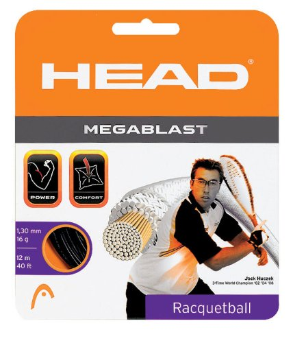 HEAD Megablast 17g String Set, Black - String Racket