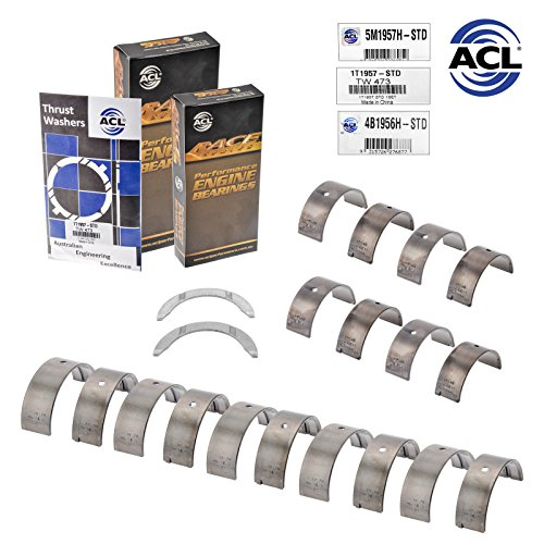 - ACL Race Rod & Main Bearings & Thrust compatible with Honda D16A1 D16Y5 D16Y7 D16Y8 D16Z6 STD (STD Sizes)