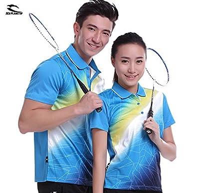 Buy Generic M1005, XXXL  SEA PLANETSP Sportswear sweat Quick Dry  breathable badminton shirt, Women / Men table tennis clothes team game blue  T Shirts