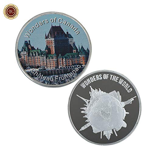999.9 Silver Coins Chateau Frontenac Commemorative Famous Building Coin for Home Collection Metal Round Coins ()