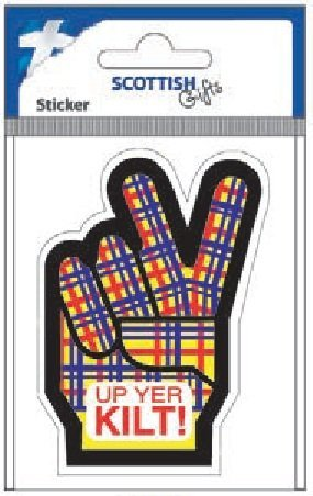 Amazon com: Scottish Gifts - Scottish Car Sticker - Up Yer
