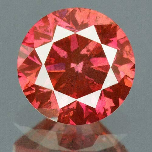 (0.34 cts. CERTIFIED Round SI3 Vivid Red Purple Color Loose Natural Diamond 12000)