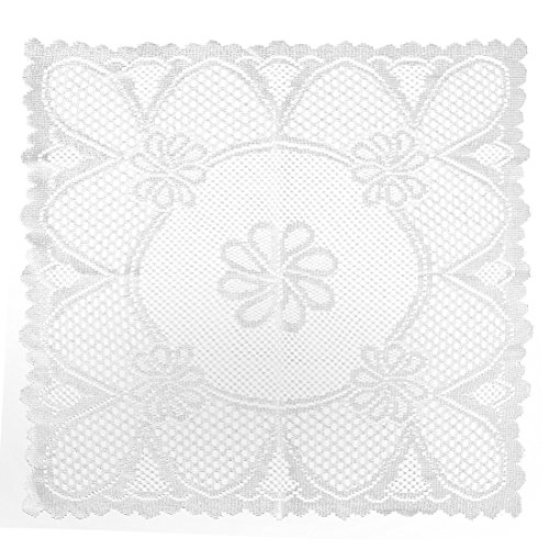(Home-X Vintage Style Square Lace Doilies. Cream or White (White))