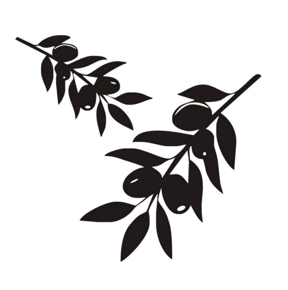Árbol De La Rama De Olivo Pegatinas De Pared Para La Sala De ...