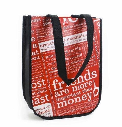 Lululemon Reusable Tote Lunch Yoga Golf Tennis Swim Gym Beach Skate Bag - Small red blackTrimmed- (9.5 x 4.5 x 12.) - Swim Lululemon