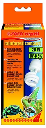 sera 32020 reptil rainforest compact / 20 W (5% UV-B) die Tageslichtlampe für Regenwald-Terrarien, fördert Gesundheit, Wachstum und Wohlbefinden