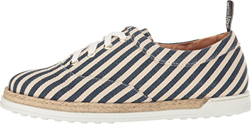 Alpargatas Moschino Para Mujer Love, Blue Stripes, 40 It