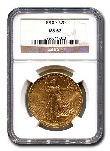 1910 S Saint Gaudens Twenty Dollar NGC MS-62