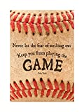Best Picture Frames  Quotes - NEVER LET FEAR BASEBALL SPORT QUOTE TYPOGRAPHY BABE Review