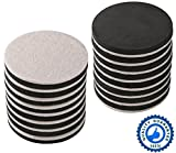 16-PACK 3.5 In.Premium Heavy Furniture Movers For Wood Floor,Felt Furniture Slider In a Reusable Tube ,3.5'' Heavy Duty Felt Furniture Sliders,Furniture Mover,Reusable Furniture Moving Pads-EZHOUSE