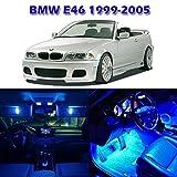 Partsam 1999-2005 BMW E46 Sedan Wagon Coupe Blue Interior LED Light Package Kit (7 Pieces)