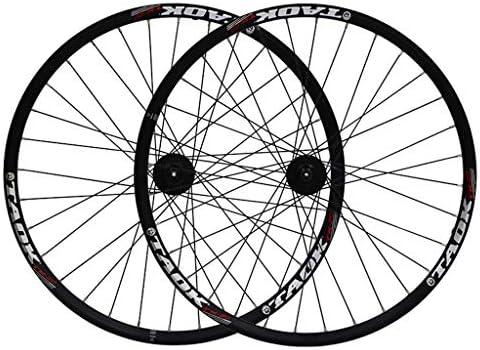 "GXFWJD MTB ホイール26インチ 自転車ホイールセット ダブルウォールアロイリム ディスクブレーキ 7-11速度 密閉ハブ クイックリリース タイヤ1.75-2.1"" 32H"