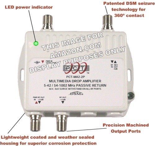 2-Port Bi-Directional Cable TV HDTV Amplifier Splitter for sale  Delivered anywhere in USA