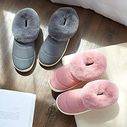 Chaussons A SHANGXIAN Accueil Épais Hommes Hiver 37 Chaussons Peluche Chaussures Antidérapant Femmes 36 C Fond 11PEqwC