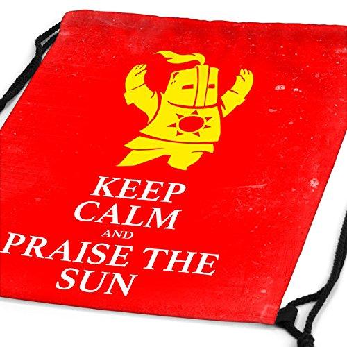CottonCloud Keep Calm an Praise the Sun Rucksack Tasche Turnbeutel Sport Jute Beutel Sunbro Solaire, Rucksack FARBE:Motiv 3 Motiv 2