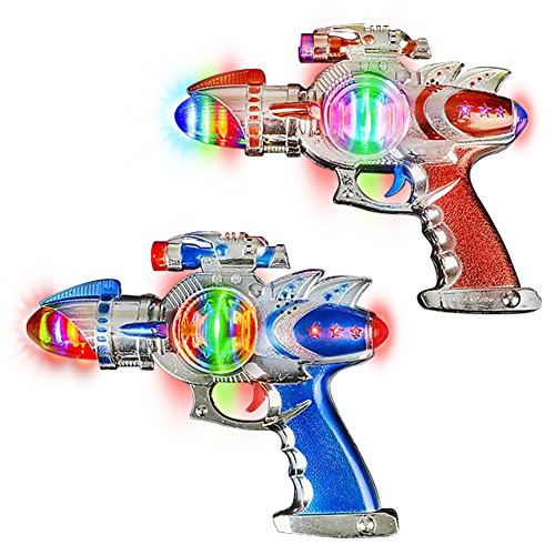 ArtCreativity Space Blaster Laser Gun Set with Flashing LEDs & Sound Effects (Pack of 2)| Cool Futuristic Toy Guns for Kids | Batteries Included | Great Gift Idea for Boys - Ideas Top Gun Costume