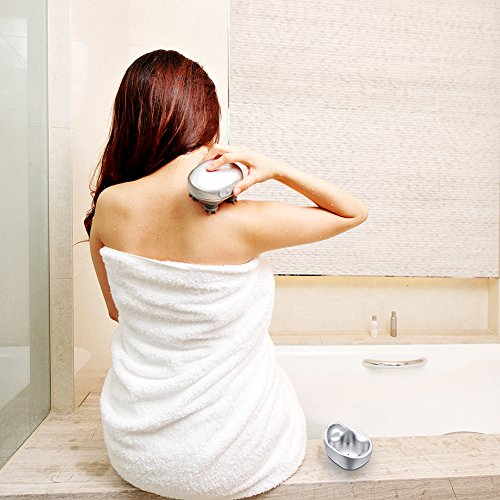 Electric Scalp Massager Cordless Head Massager Shampoo Brush for Head Neck Back Shoulders-Silver