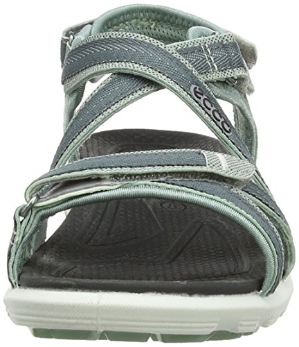 ECCO CHAMBER Cruise Sandal-W - Sandalias deportivas para mujer Blue (Ice Flower/Trooper)