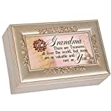 No Treasure Like You Postcard Speckled Silver Petite Rose Jewelry Music Box Plays You Light Up My Life