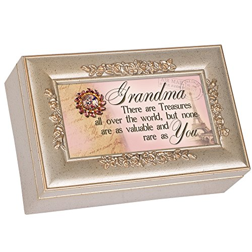 No Treasure Like You Postcard Speckled Silver Petite Rose Jewelry Music Box Plays You Light Up My Life (Blessing Postcard)