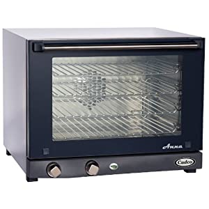 Cadco OV-023 Compact Half Size Convection Oven with Manual Controls, 208-240-Volt/2700-Watt, Stainless/Black