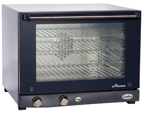 Cadco OV-023 Compact Half Size Convection Oven with Manual Controls, 208-240-Volt/2700-Watt, Stainless/Black Cadco Toaster And Convection Ovens