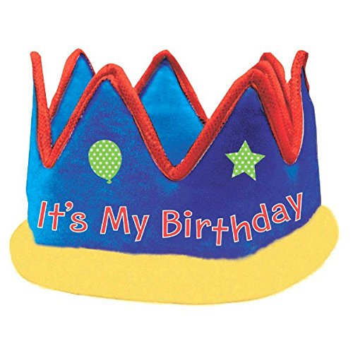 ic  Birthday Party It's My Birthday Crown Accessory, Fabric , 5