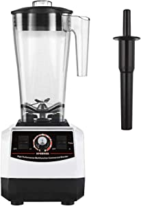 Huanyu 2200W Multifuncional Blender 3L Large Capacity Juicer Multi Mixer Smoothie Maker Soy Milk Baby Food Electric with Radial Cooling Fan&Thermal Protection System Commercial (110-120V, White)