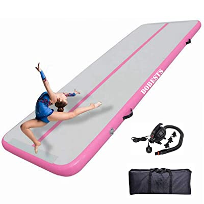 10FT//20FT Inflatable Airtrack Gymnastics Tumbling Mat Training Home Gym w// Pump