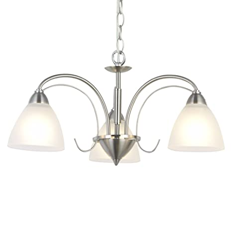 size 40 85f37 09a2b VINLUZ Modern Chandeliers Brushed Nickel 3 Lights Pendant Lighting Mid  Century Ceiling Light Fixtures Rustic Chandelier Lighting for Bedroom Foyer  ...