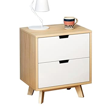 Amazon Com Xue Bedside Table Bedside Cabinet Solid Wood Lockers