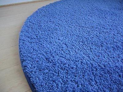 Palace Hochflor Shaggy Teppich Blau Rund In 7 Größen: Amazon.de: Küche U0026  Haushalt