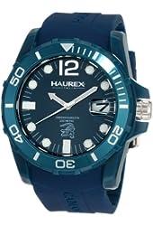 Haurex Italy Men's B1354UBB Caimano Date Blue Dial Rubber Sport Watch
