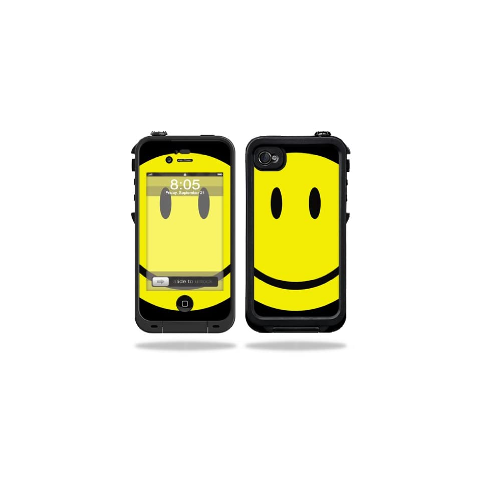 Mightyskins Protective Vinyl Skin Decal Cover for LifeProof iPhone 4 / 4S Case wrap sticker skins Smiley Face