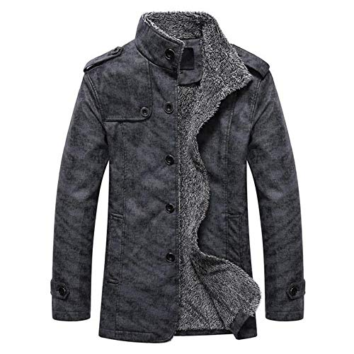 NRUTUP Men's Clothing Deals, Men's Fashion Warm Hooded Leather Warm Jacket Casual Thermal Coats Top