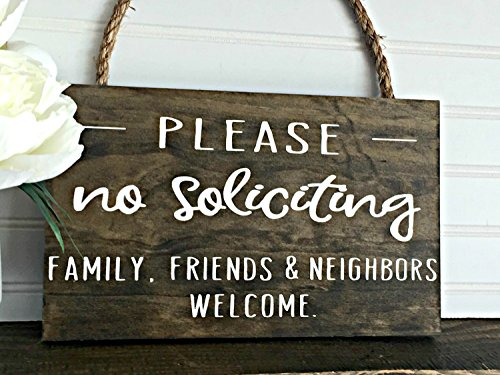 (PotteLove No Soliciting Friends Family & Neighbors Welcome Sign Welcome Sign Door Sign)