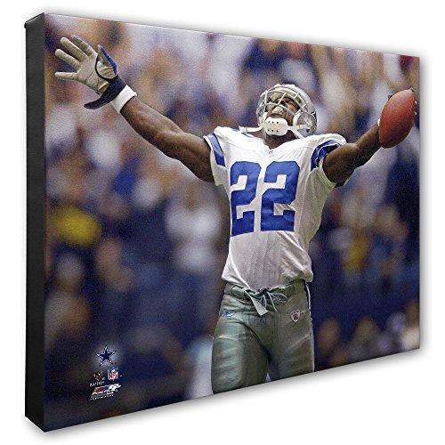 NFL Dallas Cowboys Emmitt Smith Beautiful Gallery Quality, High Resolution Canvas, 16