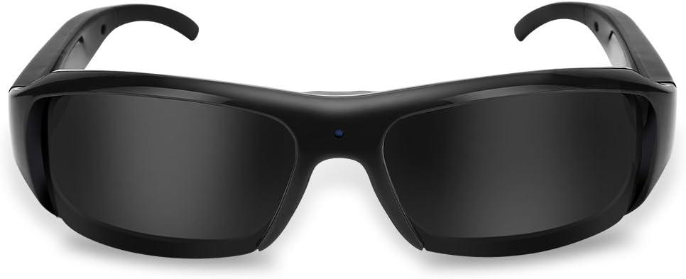 Topiky Videocámara Video de La Cámara de Las Mini Gafas De Sol Recargables de Los Deportes al Aire Libre 1080P HD USB