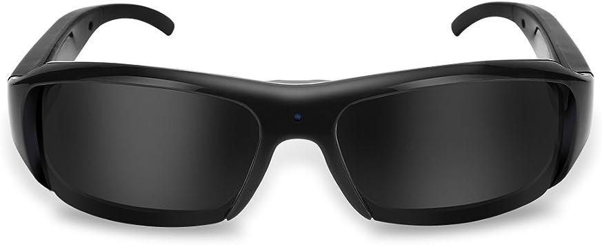 Opinión sobre Gafas de Sol con cámara Vedio, 1080P HD USB Recargable Mini Gafas de Sol para Deportes al Aire Libre Cámara con videocámara con protección UV Admite Tarjetas TF de hasta 32 GB