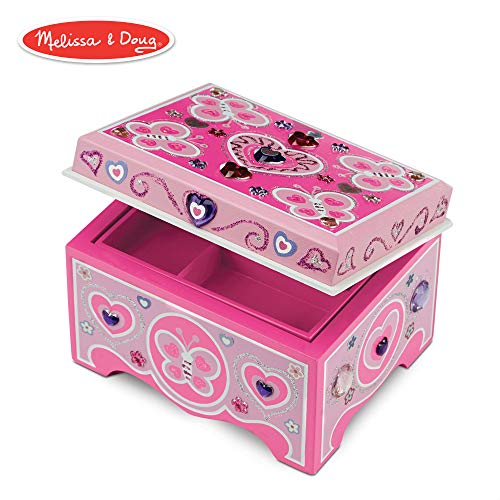 Melissa & Doug Decorate-Your-Own Wooden Jewelry Box Craft -