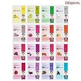 4 X Dermal Korea Collagen Essence Full Face Facial Mask Sheet 16 Pack B Color SET For Sale