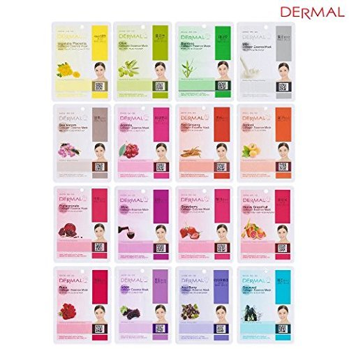 2 Sets of Dermal Korea Collagen Essence Full Face Facial Mas