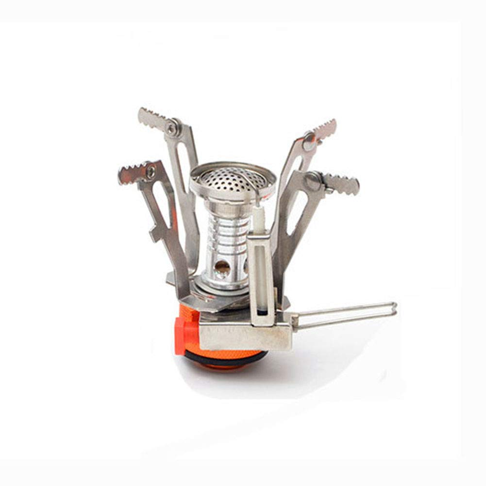 YXCXC Wild Camping Integrated Mini Stove Head with Electronic Ignition Portable Stove Stove Cooker Travel,Silver by YXCXC (Image #1)