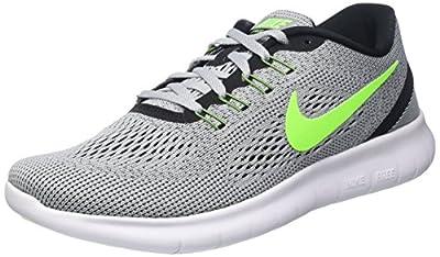 Nike Mens Free Rn Pure Platinum/Elctrc Grn/Anthracite Running Shoe 8 Men US