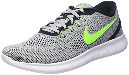 Nike Men's Free Rn Pure Platinum/Elctrc Grn/Anthracite Running Shoe 9.5 Men - Ambassador Running